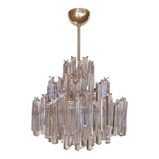 Vintage Mid-Century Modern Murano Glass Chandelier For Sale