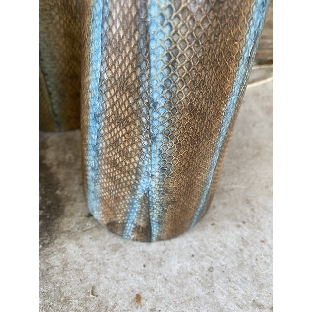 1990s Snake Skin Wrapped Resin Vases - Set of 3 For Sale - Image 5 of 13