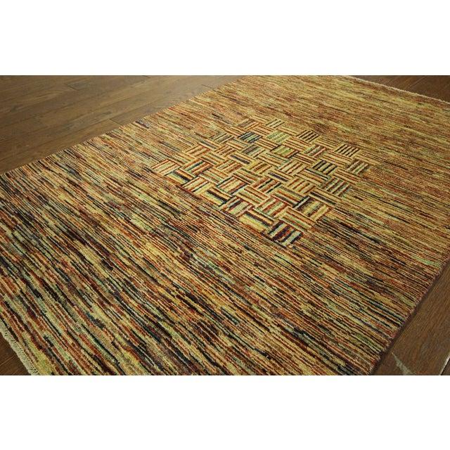 Kashkuli Lori Buft Gabbeh Multicolor Rug - 4' x 6' - Image 5 of 9