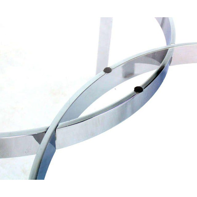 Mid-Century Modern Mid-Century Modern Chrome and Glass-Top Coffee Table For Sale - Image 3 of 10