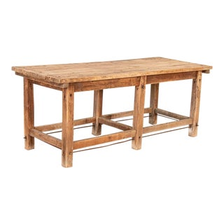 Antique Rustic Work Table Kitchen Island For Sale
