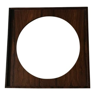 1960s Mid-Century Modern Rosewood Wall Mirror For Sale