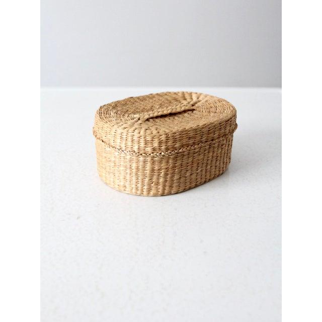 Vintage Sweetgrass Basket For Sale - Image 9 of 9