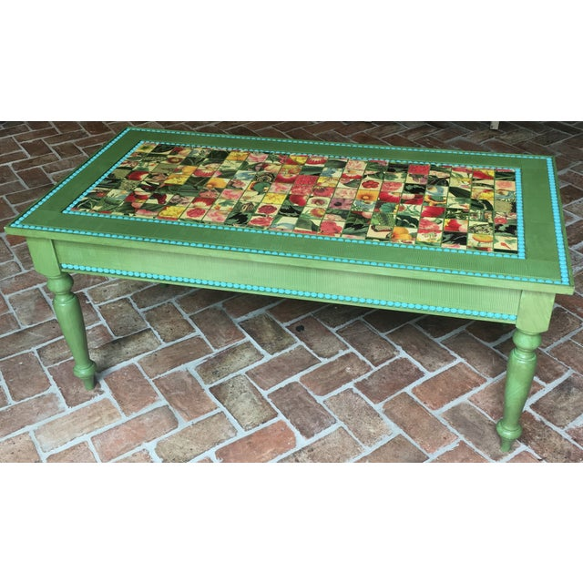 Hand Made Strie Artisan Cocktail Table - Image 3 of 6