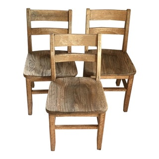 1970s Children's School Chairs - Set of 3 For Sale