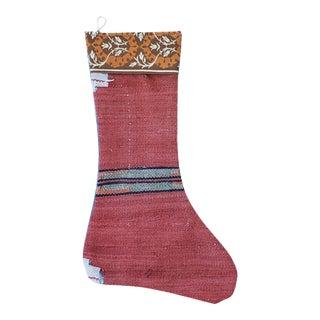 Vintage Kilim Hand Made Christmas Stocking For Sale