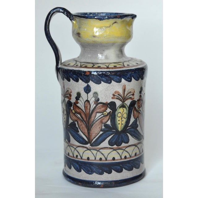 Vintage Guanajuato Capelo Majolica Pottery Pitcher For Sale In Los Angeles - Image 6 of 6