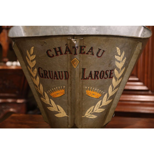 French 19th Century French Hand Painted Tole Grape Basket From Bordeaux For Sale - Image 3 of 9