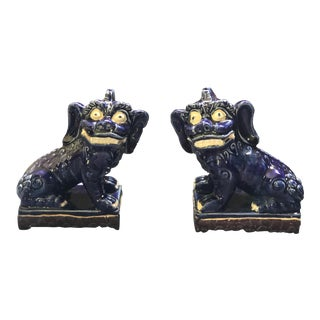 Vintage Foo Dog Statues - a Pair For Sale