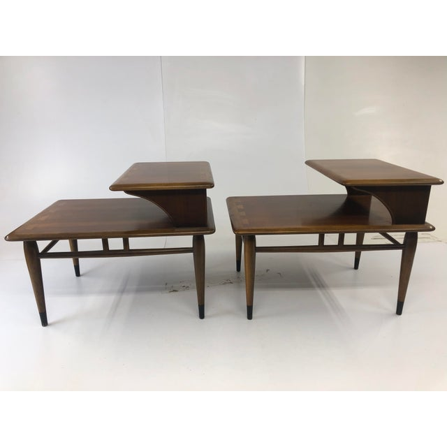 Vintage Mid Century Modern Step Tables - a Pair - Acclaim by Lane Furniture For Sale - Image 6 of 13