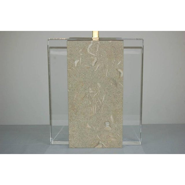 Swank Lighting Fossil Stone Table Lamp For Sale - Image 4 of 11