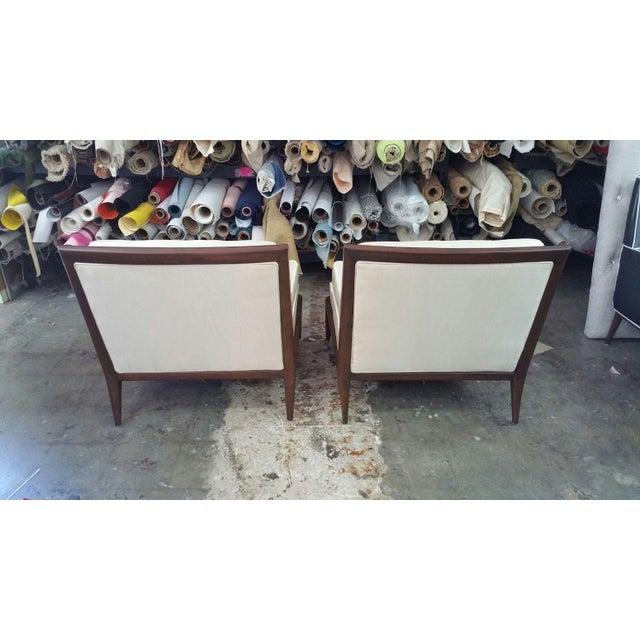 T.H. Robsjohn Gibbings 1950s Mid Century Modern Slipper Chairs - a Pair For Sale - Image 4 of 8