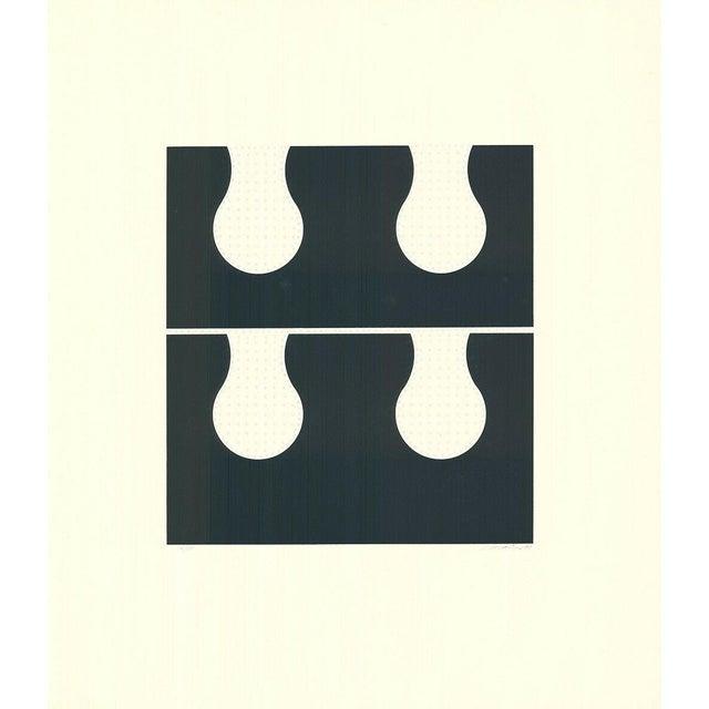 1971 Juan Martinez Composition #2 Hand Signed Silkscreen Print For Sale