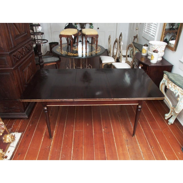 French Maison Jansen Mahogany Dining Table For Sale - Image 3 of 10