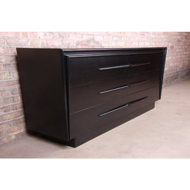 Edmond Spence Swedish Modern Ebonized Birch Dresser or Credenza, Newly Refinished For Sale In South Bend - Image 6 of 13