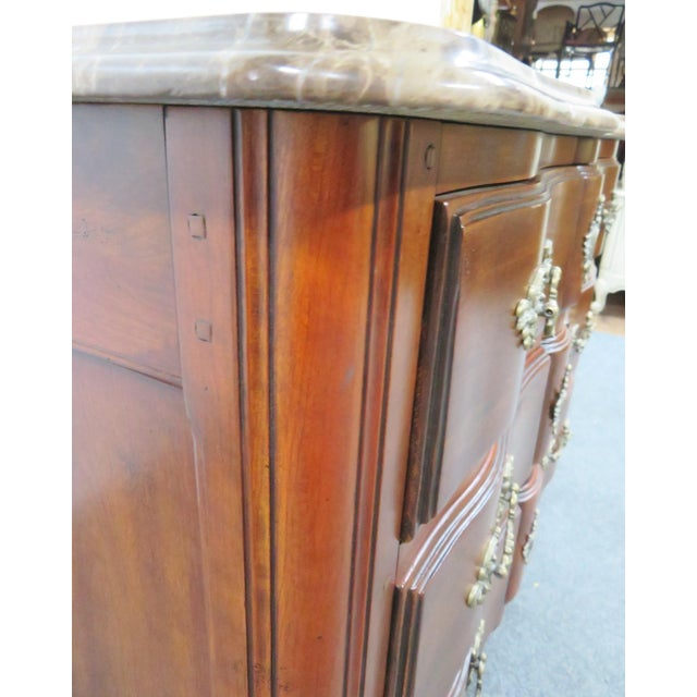 Tan Hickory Chair Co. Louis XV Style Marbletop Chest For Sale - Image 8 of 9