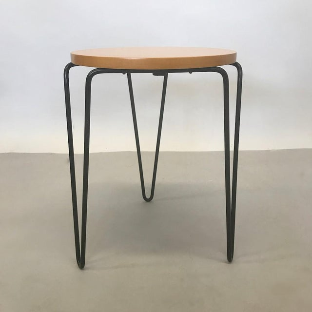 1950s Florence Knoll Hairpin Stool or Side Table For Sale - Image 5 of 5