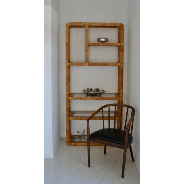 Mid-Century Rattan Bookcase For Sale - Image 4 of 13