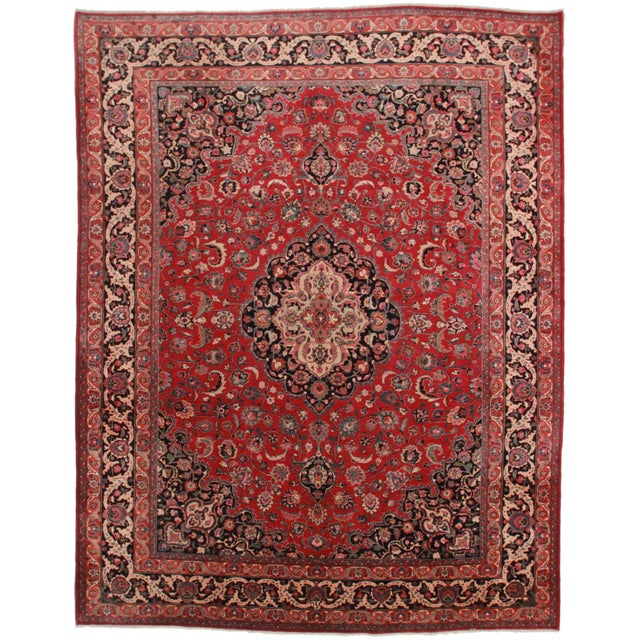 Rugsindallas Hand-Knotted Persian Mashad Rug - 9′10″ × 12′10″ For Sale