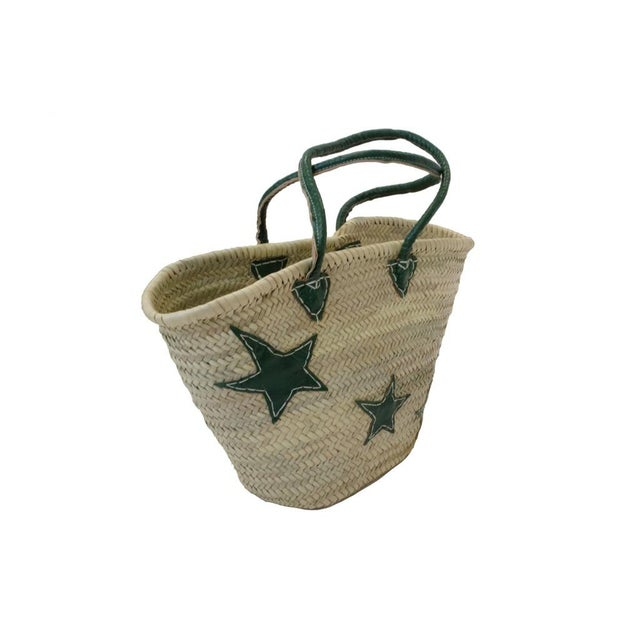 Green Star Motif Market Basket - Image 2 of 3