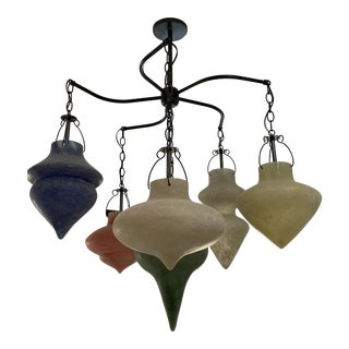 Murano Glass Chandelier CX Designs Scavo Collection For Sale