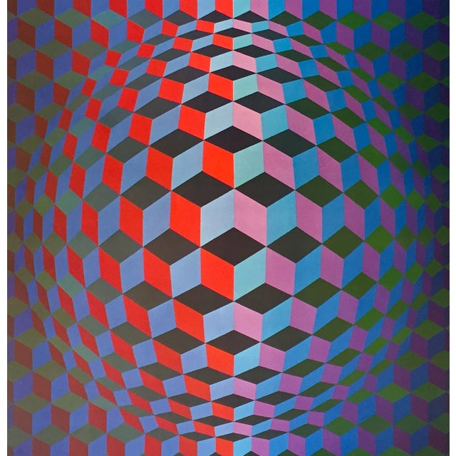 Date: 1986 Size: 34 x 24 inches Notes: Poster Artist: Vasarely, Victor (after) About The Poster: This poster was produced...