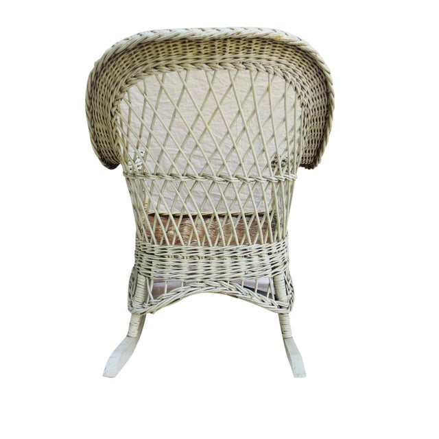 White Wicker Rocker - Image 5 of 6