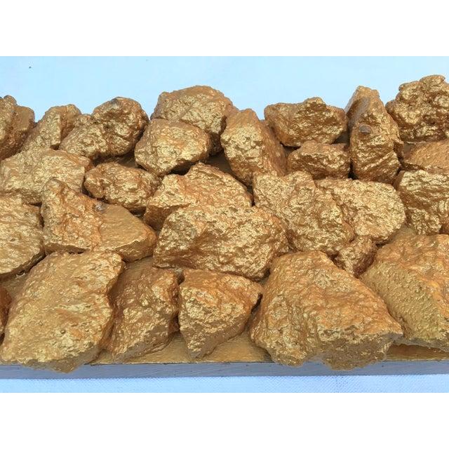 "Gold Suga Lane ""Gilt Duplicidad"" Gold Concrete Rock Sculpture For Sale - Image 8 of 13"