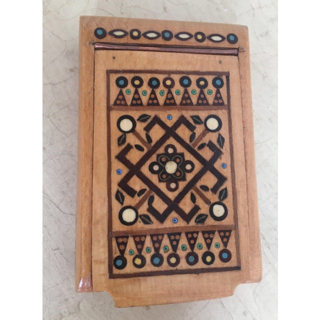 Bohemian Chic Wooden Jewelry Box - Image 6 of 6