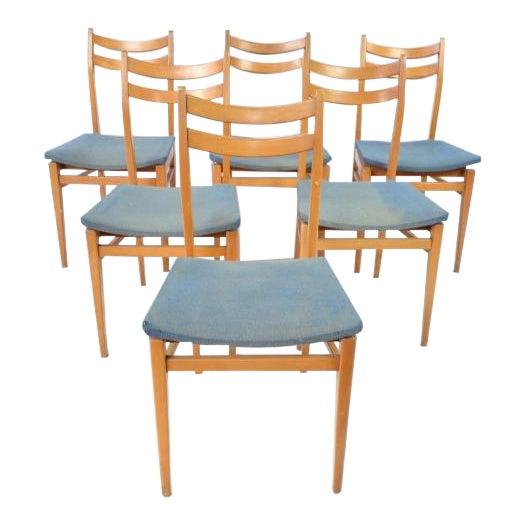 Danish Blonde Modern Chairs - Set of 6 - Image 1 of 6