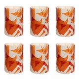 Image of Stories of Italy Nougat Tumblers - Red, Set of 6 For Sale