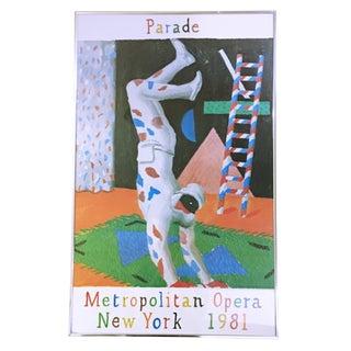 """1981 David Hockney """"Parade"""" Poster"""