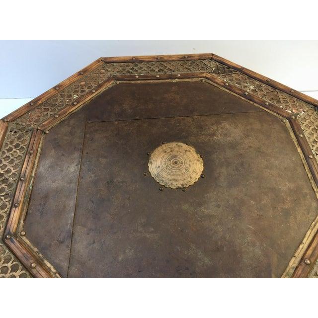 Anglo Raj Moorish Design Octagonal Low Coffee Table For Sale - Image 11 of 12