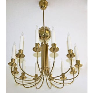 Parzinger Acanthus Leaf Brass Chandelier Preview