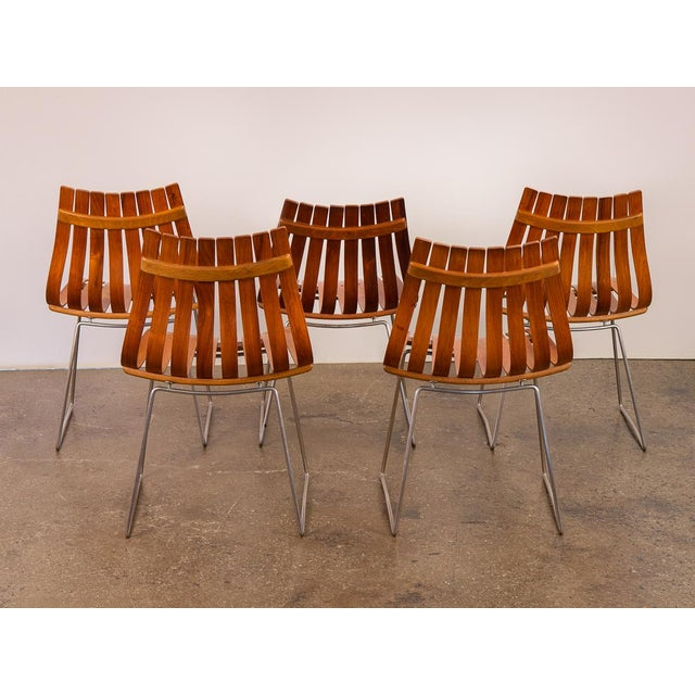 Danish Modern Hans Brattrud Scandia Dining Chairs - Set of 5 For Sale - Image 3 of 12