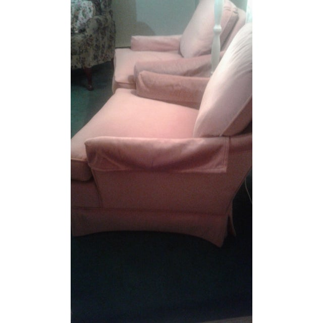 Pink Drexel Heritage Frederick Edward Distictive Seating Club Chairs - A Pair For Sale - Image 8 of 12