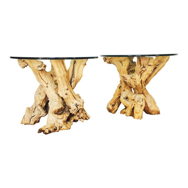 Vintage Grape Vine Side Tables - a Pair - Image 1 of 6