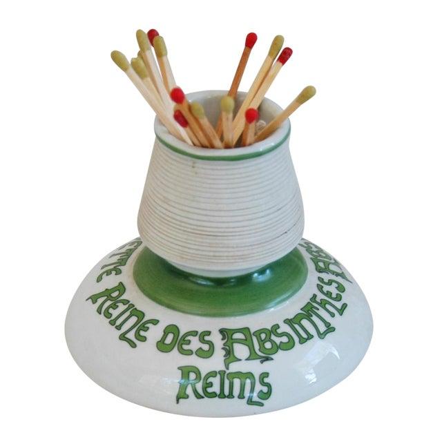 Parisian Cafe French Absinthe Porcelain Match Striker - Image 1 of 10