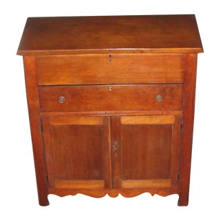 Early American Walnut Plantation Desk, 1850 For Sale