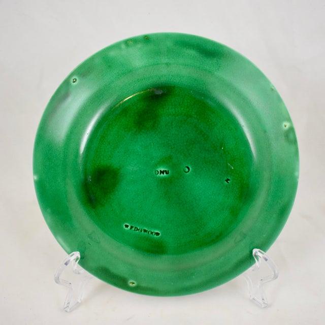 Ceramic Wedgwood Majolica Green Glazed Cabbage Leaf & Basket Plate For Sale - Image 7 of 12