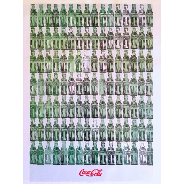 "Green Andy Warhol Foundation Vintage 1999 Pop Art Lithograph Calendar Print "" Green Coca - Cola Bottles "" 1962 For Sale - Image 8 of 8"