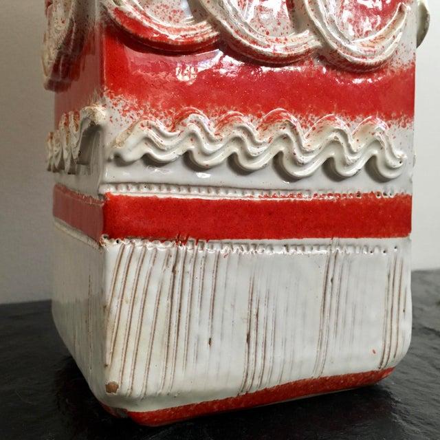 Ceramic Mid Century Italian Pottery Vase For Sale - Image 7 of 8