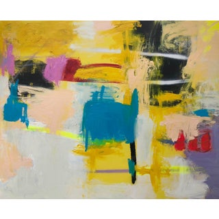 """Modern """"Intuition"""" Contemporary Abstract Oil Painting by Mirtha Moreno For Sale"""