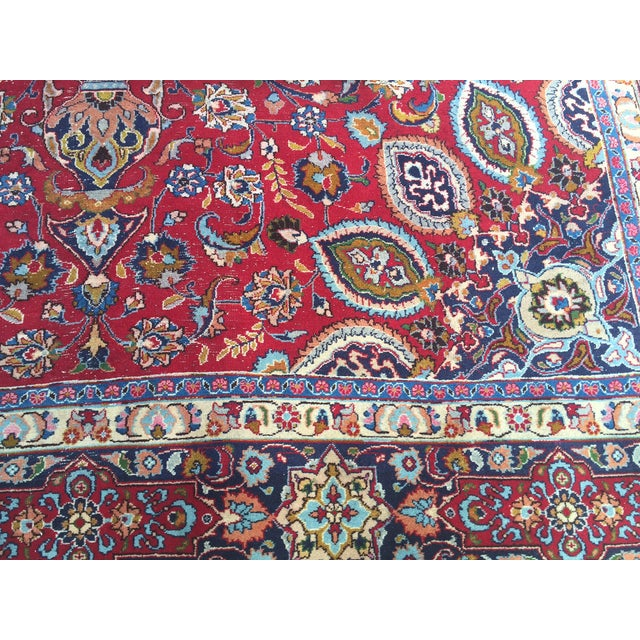 Vintage Persian Mashad Palace Rug - 9′9″ × 12′8″ - Image 9 of 10
