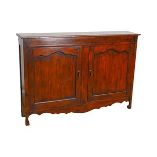 French Country Style 2 Door Thin Console Cabinet
