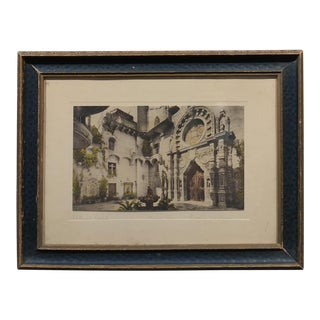 Mission Inn Riverside -St. Francis Chapel- Antique Hand Tinted Photo-1900s