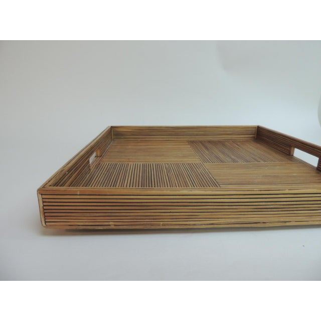 Large Square Bamboo Serving Tray - Image 3 of 6