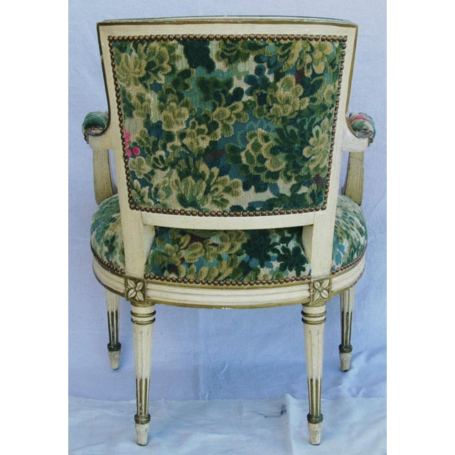 Scalamandre Marly Velvet Tapestry Fabric Armchair - Image 9 of 11