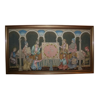 """Table Game of the Time"" Tapestry Made by the Royal Spanish Tapestry Factory For Sale"