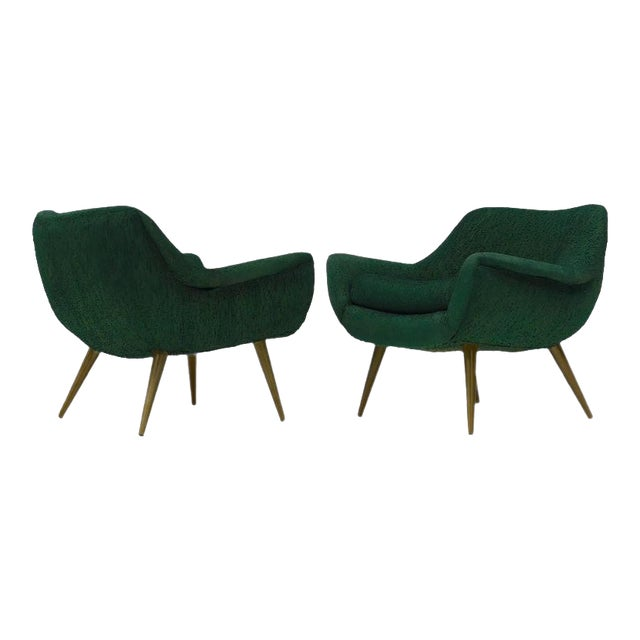 Pair of Sculptural Lounge Chairs by Lawrence Peabody for Selig For Sale